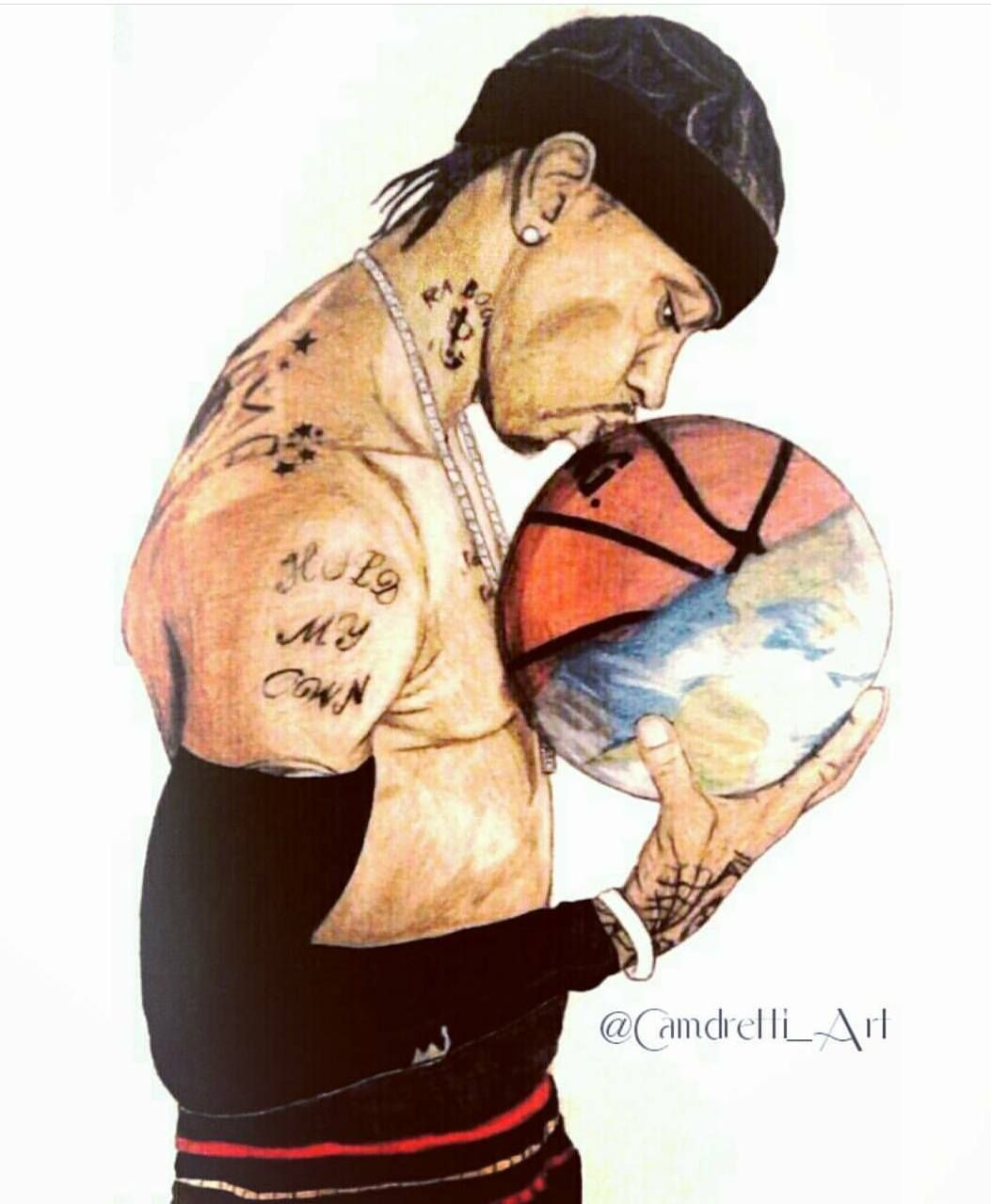 """""""Allen Iverson"""" By @camdretti_art On Instagram (With ..."""