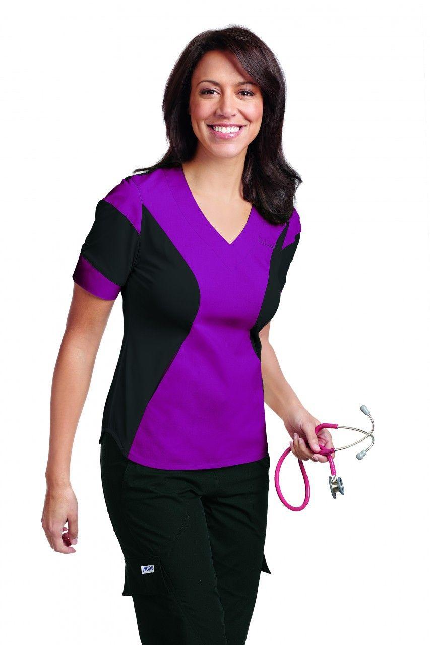 73201f8b2b3 524T- Deep Orchid Front Cheap Scrubs, Mobb, Scrubs Uniform, Womens Scrubs,