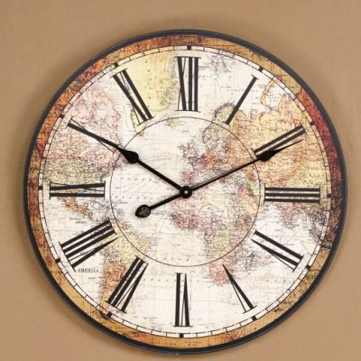 World Map Wall Clock World Clock Clock Wall Clock