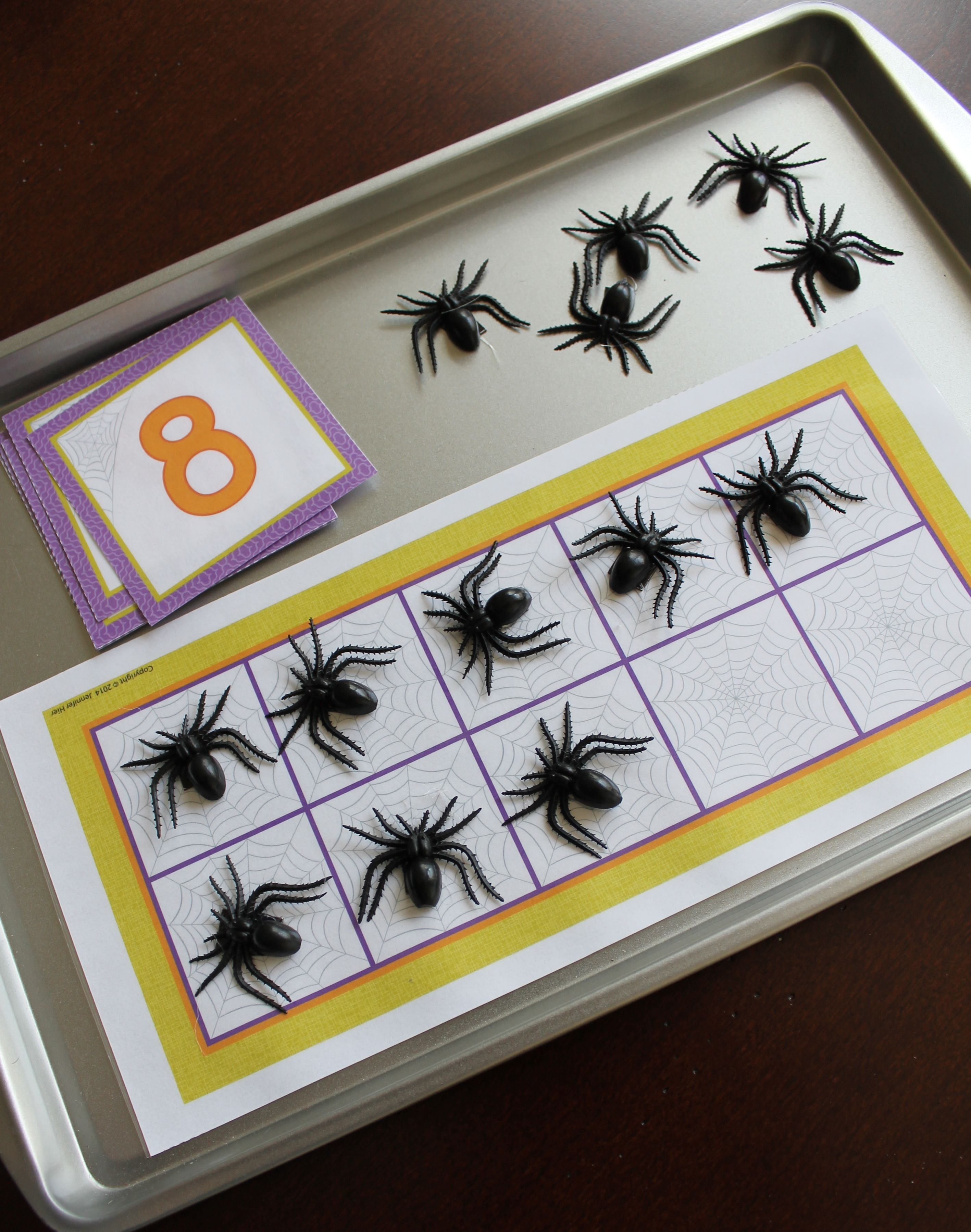 Spiders Math Activities Spider Counting And Number