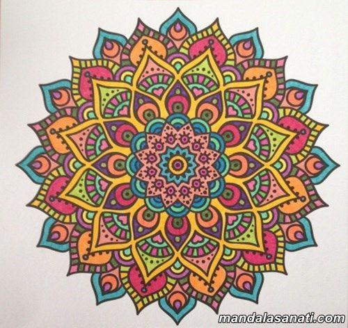 Mandala Boyama Nasıl Yapılır Coloring Art Pages Mandala Art