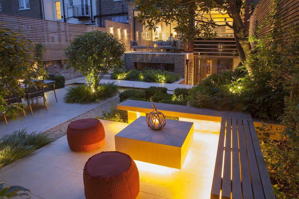 Simpleviewer Gallery Urban Garden Design Garden On A Hill Built In Garden Seating