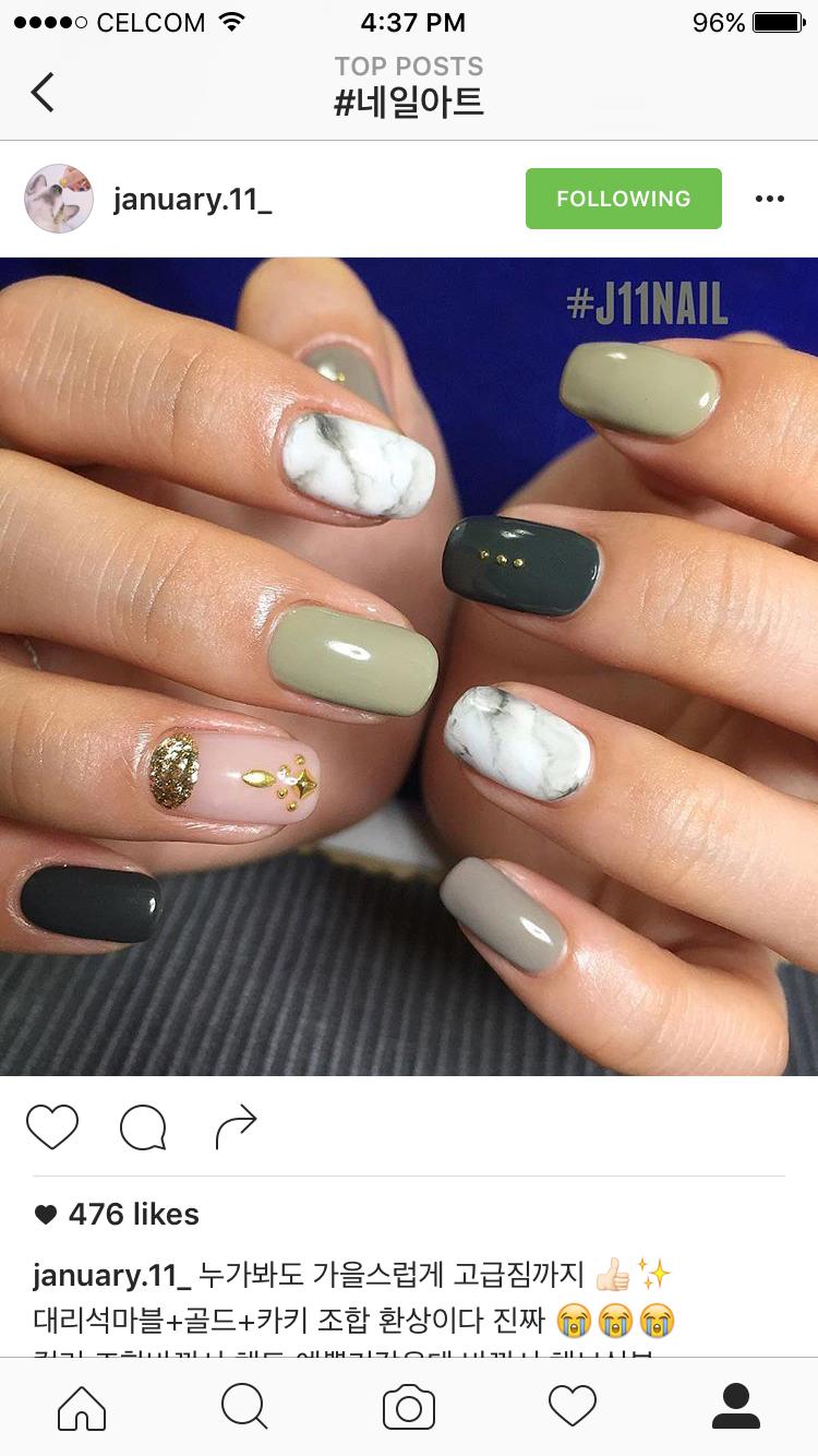 Military green marbling | Nails | Pinterest | Arte de uñas, Diseños ...