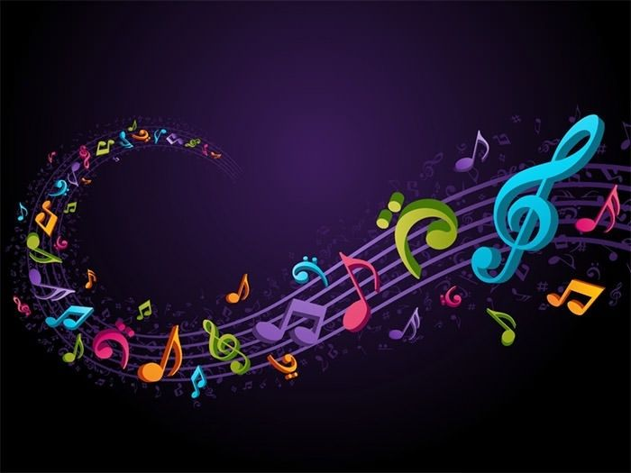 Template Background Music Music Notes Background Music Backgrounds Music Notes