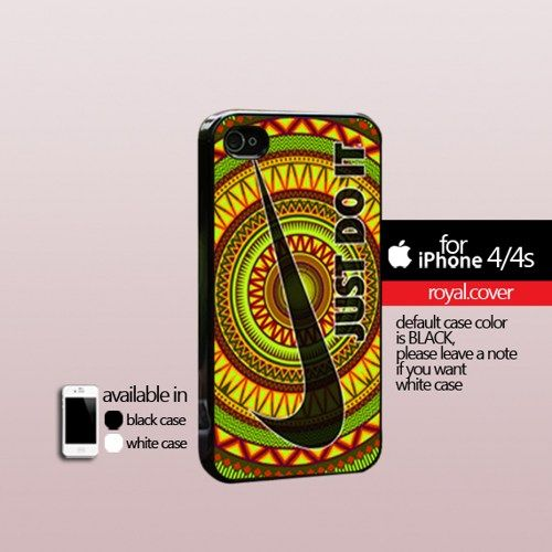 Just Do It Nike Aztec Pattern - Print Hard Cover For iPhone 4/4S