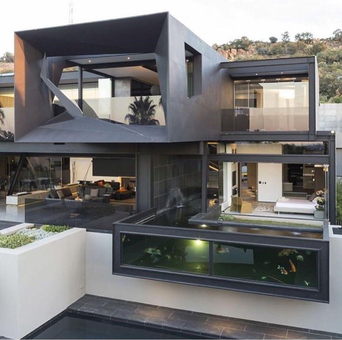 Maison moderne à construire | Contemporary Houses | Moderna hus, Hus ...