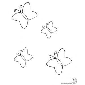 Disegno Di Farfalle Da Colorare Disegni Animali Pinterest
