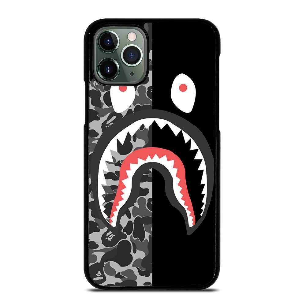 Camo bape shark silver iphone 11 pro max case iphone 11