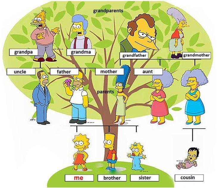 Family Tree Vocabulario Em Ingles Dicas De Ingles Ingleses