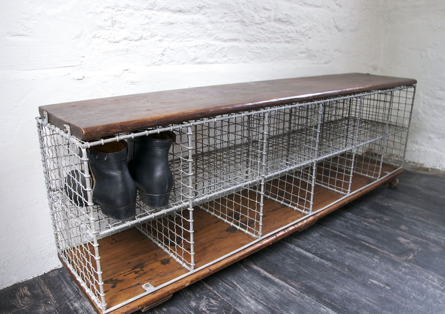 Lovely Products Storage Misc Furniture Vintage Industrial Storage Bench