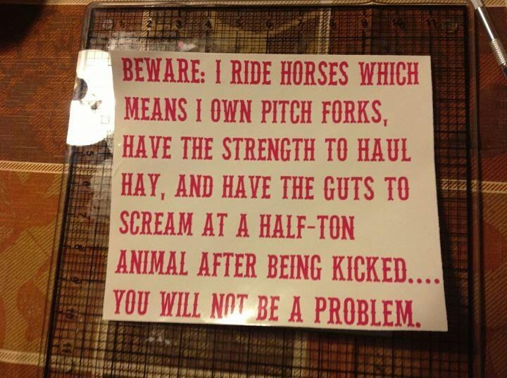 #Equestrian For #Life. I so need this sign.