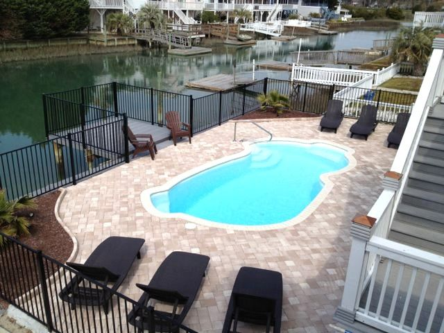 Oasis on the Channel Private Pool Pet Friendly in North Myrtle