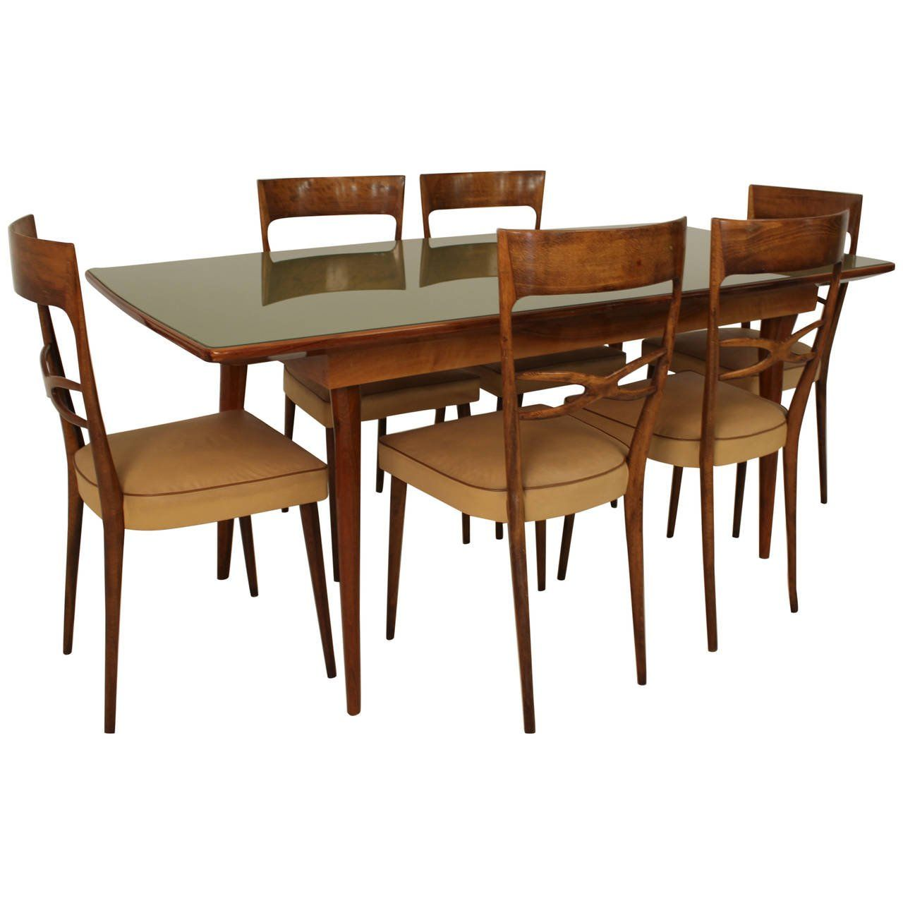 Melchiorre Bega Dining Room Set Attributed Dining Chairs Italian