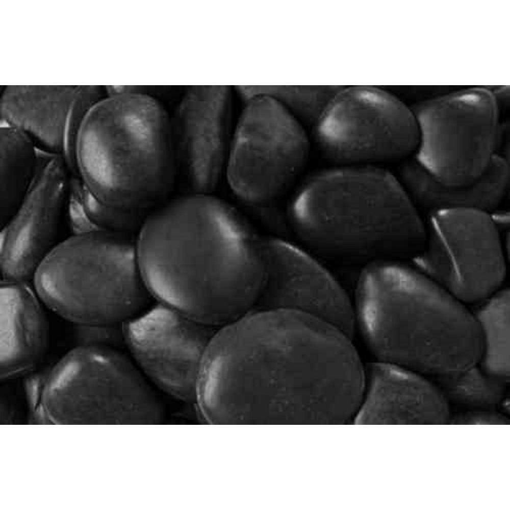 0 25 Cu Ft 2 In To 3 In 20 Lbs Black Grade A Polished Pebbles