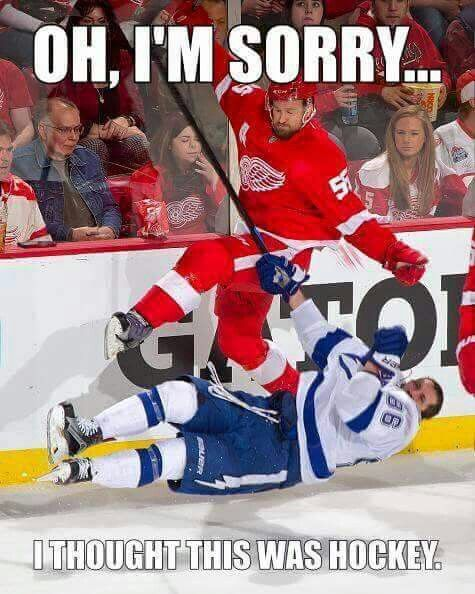 Kronwall Suspended For This Bs Meanwhile Sueban Gets Nothing For His 2 Handed Attempt To Break Detroit Red Wings Hockey Red Wings Hockey Detroit Red Wings