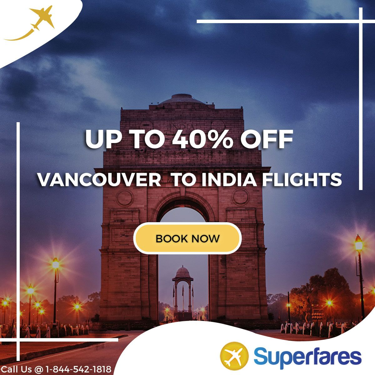 Grab The Best Offers on Vancouver(YVR) to India(IN