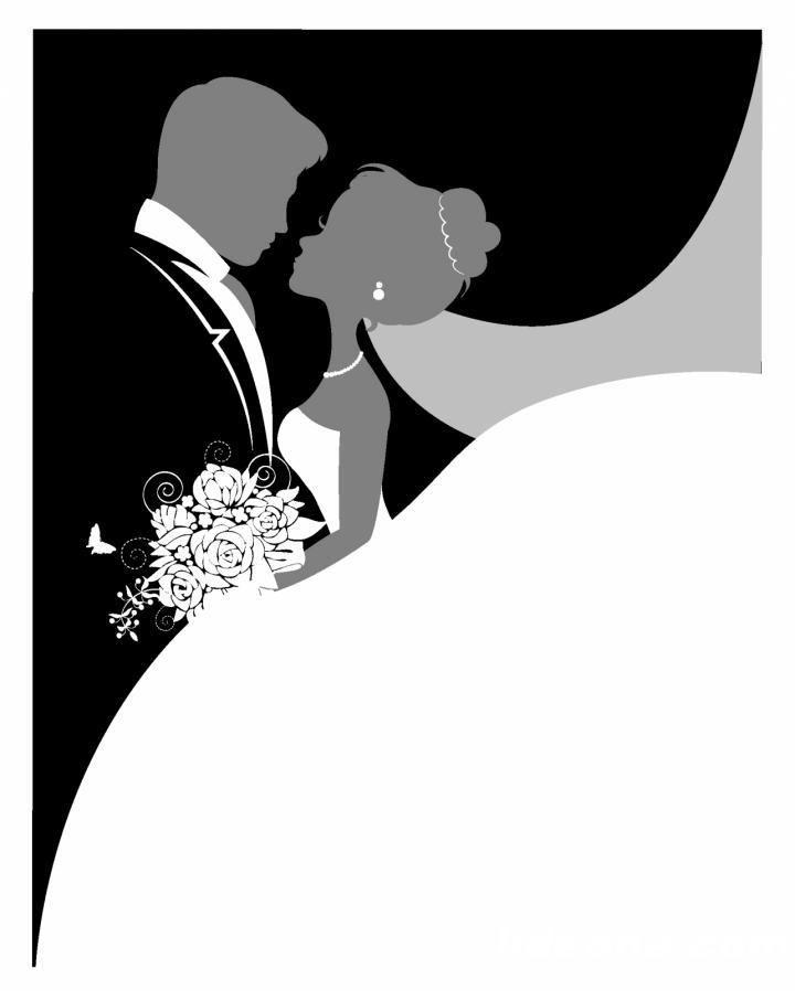красивые картинки на свадьбу черно-белые наши