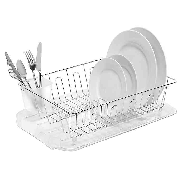 Salt Large Dish Drainer In Silver Dish Drainers Dish Rack