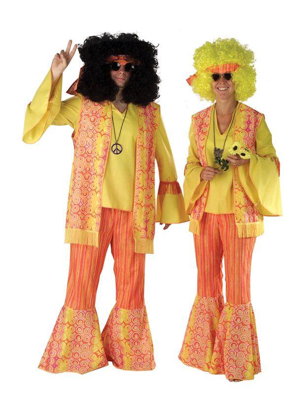 Party Props Mens Hippy Hippie Costume Orange Large Fancy Dress  sc 1 st  Pinterest & Party Props Mens Hippy Hippie Costume Orange Large Fancy Dress ...