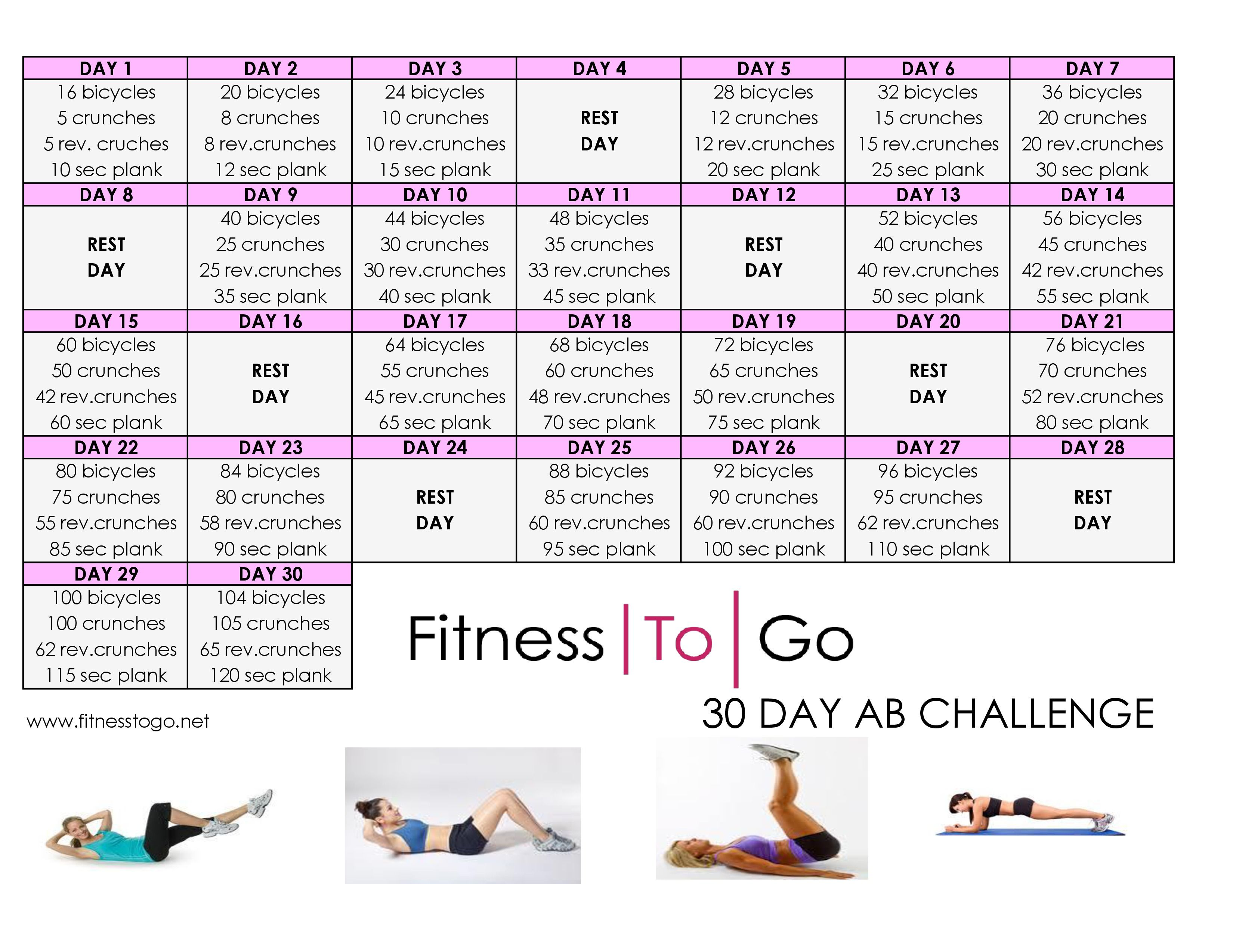 Workout Calendar For Abs : Day ab challenge google search health and fitness