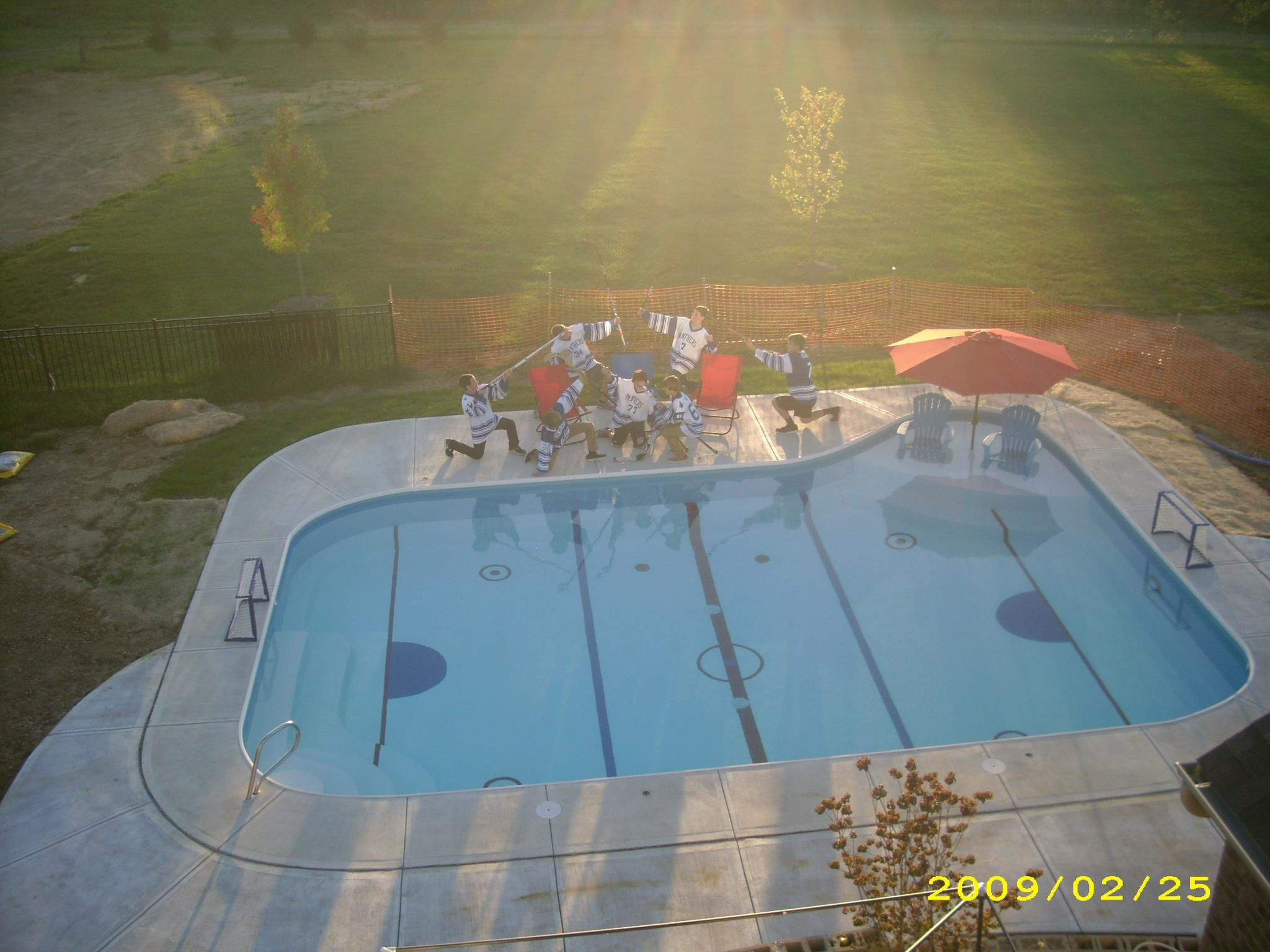Most Awesome Hockey Pool Ever Hockey Room Hockey Pool Hockey Bedroom Backyard rink kit canada amazon