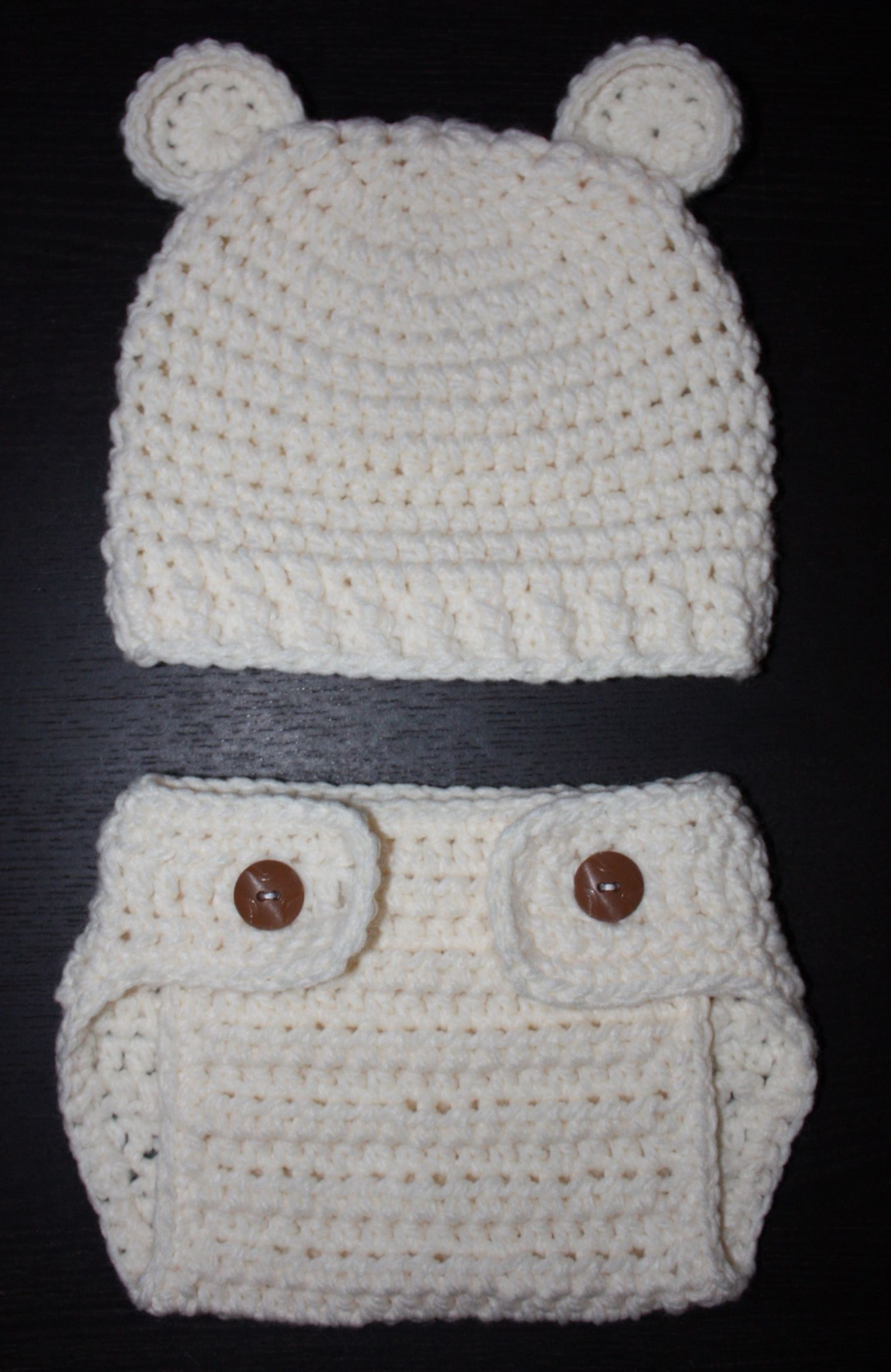 Crochet Bear Hat & Diaper Cover | >knit< | Pinterest | Conjuntos ...