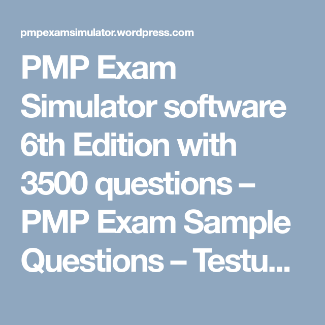 pmp exam sample questions Below are sample questions and answers that you might find on the pmp exam questions the following 20 questions are from whiz labs , which provides information and sample tests -- for a fee -- for the pmp and other examinations.