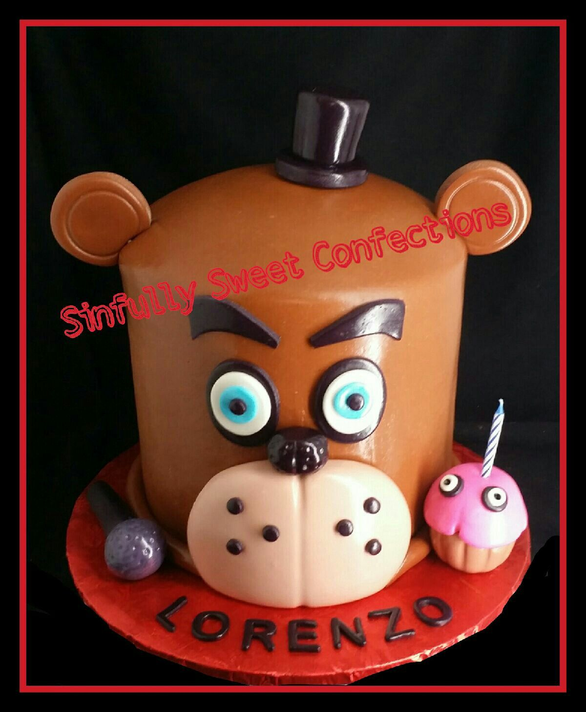 Ideas five nights at freddy party - Five Nights At Freddy S Birthday Cake