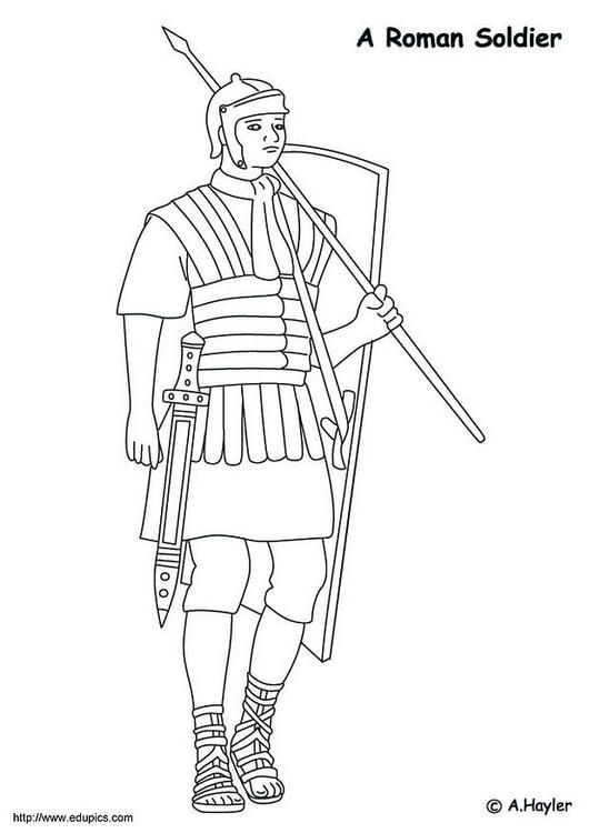 Coloring Page Roman Soldier Coloring Picture Roman Soldier Free