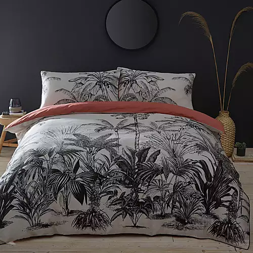 White And Black Palm Tree Tropical Bedding Google Search Duvet Sets Jungle Theme Bedroom For Adults Jungle Bedroom Theme
