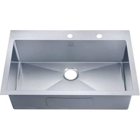33 Inch Kitchen Sink Top Mount Single Hole Bowl 275 Home Depot Single Bowl Kitchen Sink Sink Drop In Kitchen Sink