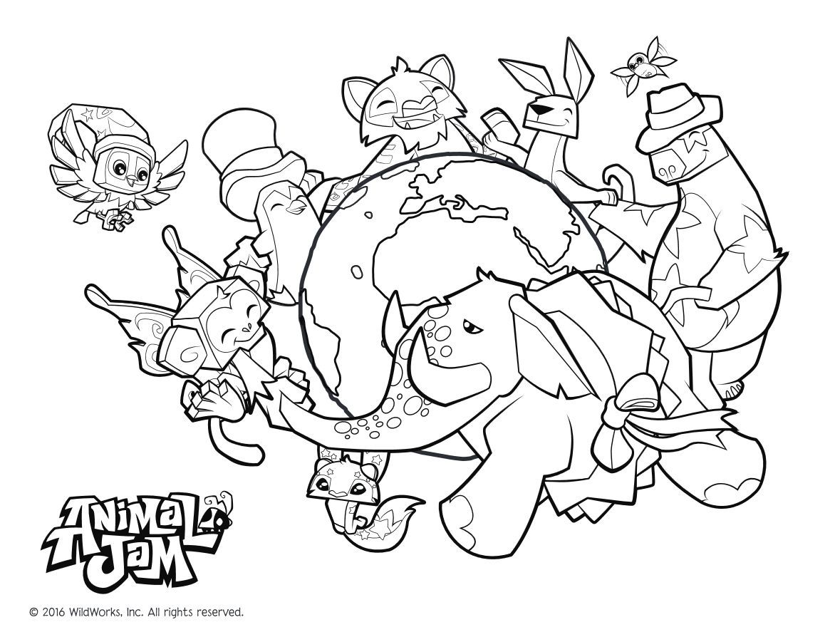 Here is the Animal Jam Coloring Page! Click the picture to