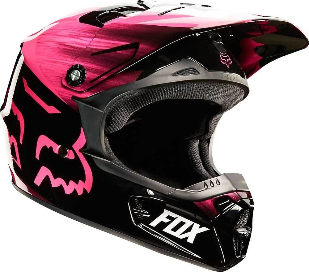 2015 Fox Racing V1 Vandal Motocross Dirtbike Mx Atv Snell Dot Womens Helmet Foxracing Motocross Motorcross Bike Bike Boots Dirt Bike Gear