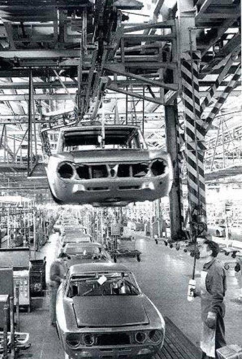 Alfa Romeo Factory Arese Italy Circa 1974 1976 Italys Finest