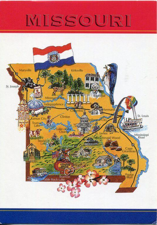 Usa Missouri Map Missouri Joplin Missouri Illustrated Map