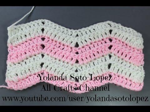 Como tejer Punto ripple en #crochet - YouTube | croche | Pinterest ...