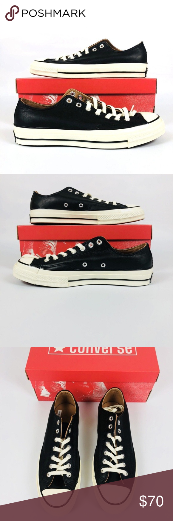 e3c88fda6431 CONVERSE ALL STAR CHUCK TAYLOR CTAS 70 OX CONVERSE ALL STAR CHUCK TAYLOR  CTAS 70 OX SZ 9.5 BLACK EGRET WHITE 151156C New With Box Shipped Double  Boxed ...