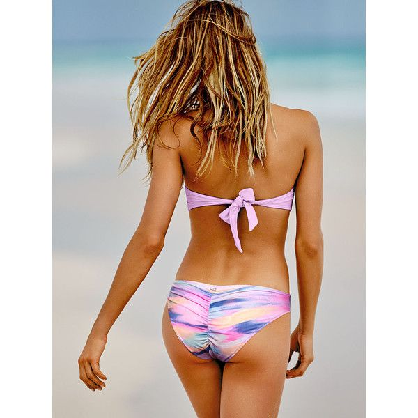 e3fefde2e8 PINK Ruched Mini Bikini Bottom ( 23) ❤ liked on Polyvore featuring  swimwear