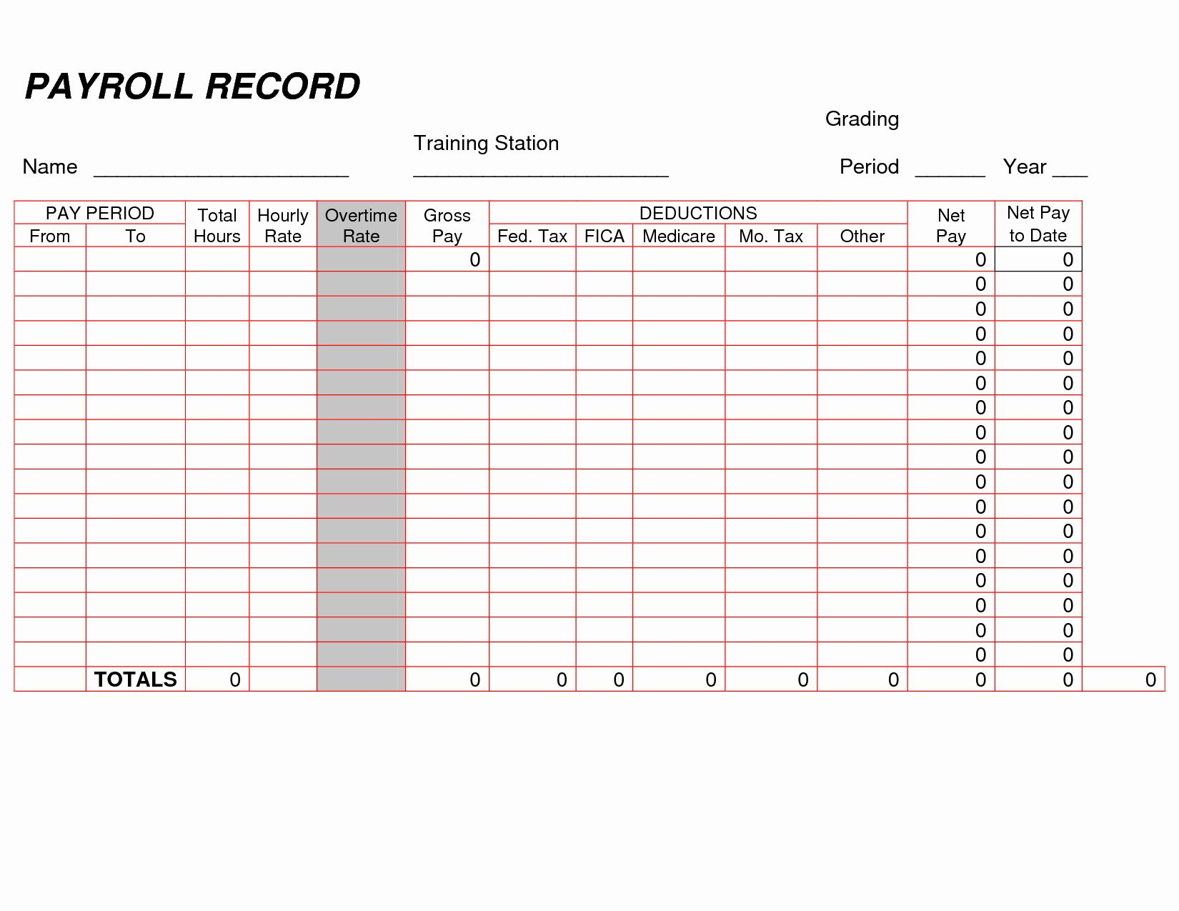 Self Employment Ledger Forms Beautiful Printable Payroll