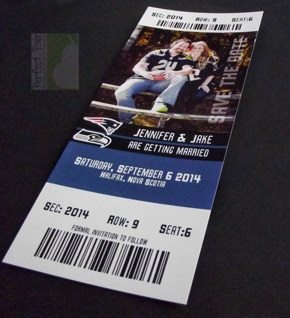 Sports Event Ticket Wedding Save The Date Wedding Weddings and