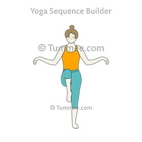 Stork Bird Pose Variation Arms Out Yoga Saaras Pakshi Asana Variation Arms Out Yoga Sequences Benefits Variations And Sanskrit Pronunciation Tummee Co Standing Yoga Poses Yoga Poses For Beginners Yoga Poses