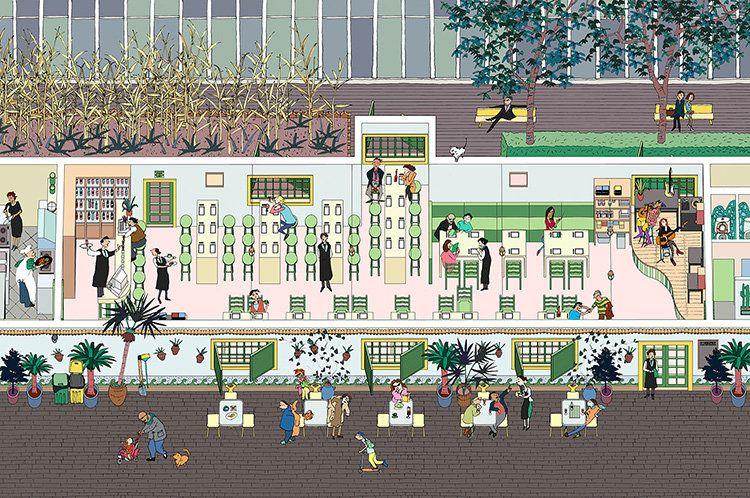 2: Carmen Restaurant | An Artist Creates SimCity-Like Renderings Of Beijing | Co.Design: business + innovation + design