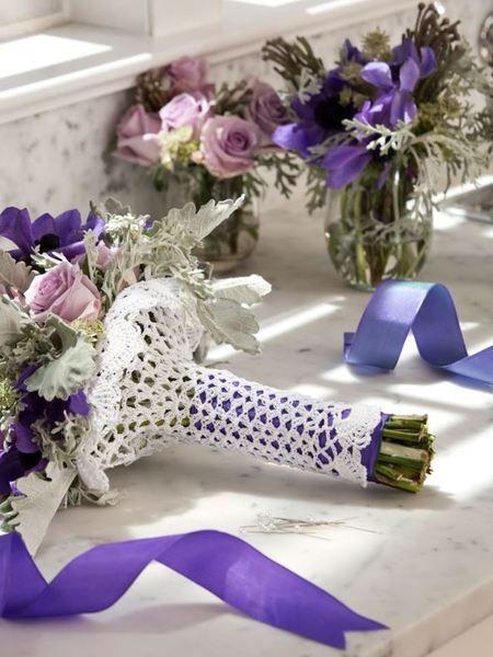 How to Wrap a Bouquet Crochet Pattern | Pinterest | Kranich ...