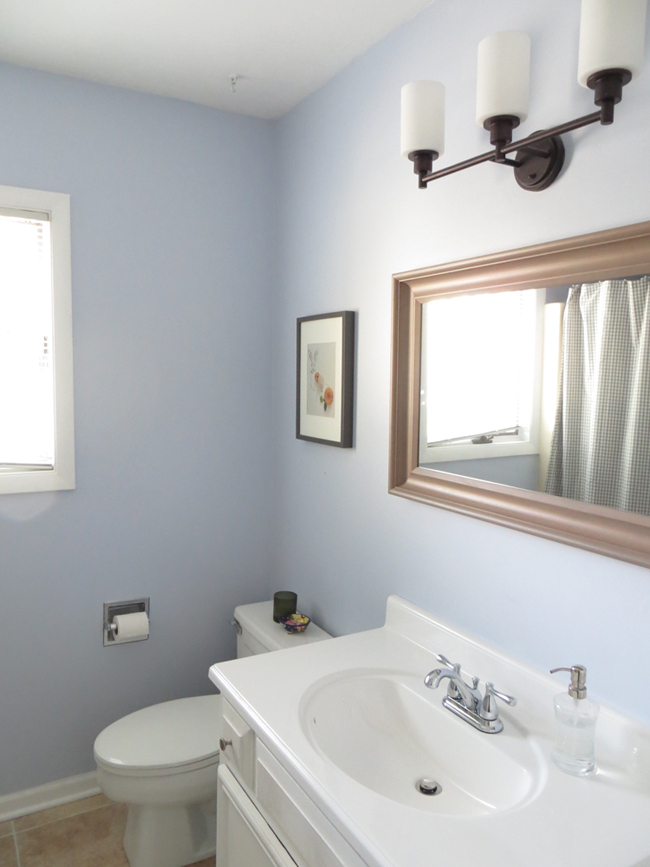 Receiving Room Interior Design: Small Blue And White Bathroom