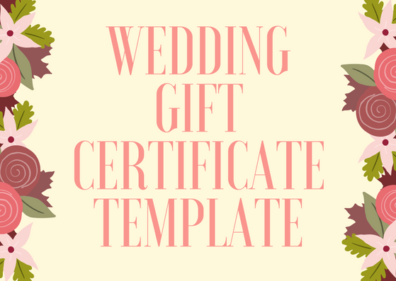 26 Wedding Gift Certificate Template Free Wedding Voucher Templates Gift Certificate Is Alw Gift Certificate Template Wedding Voucher Certificate Templates