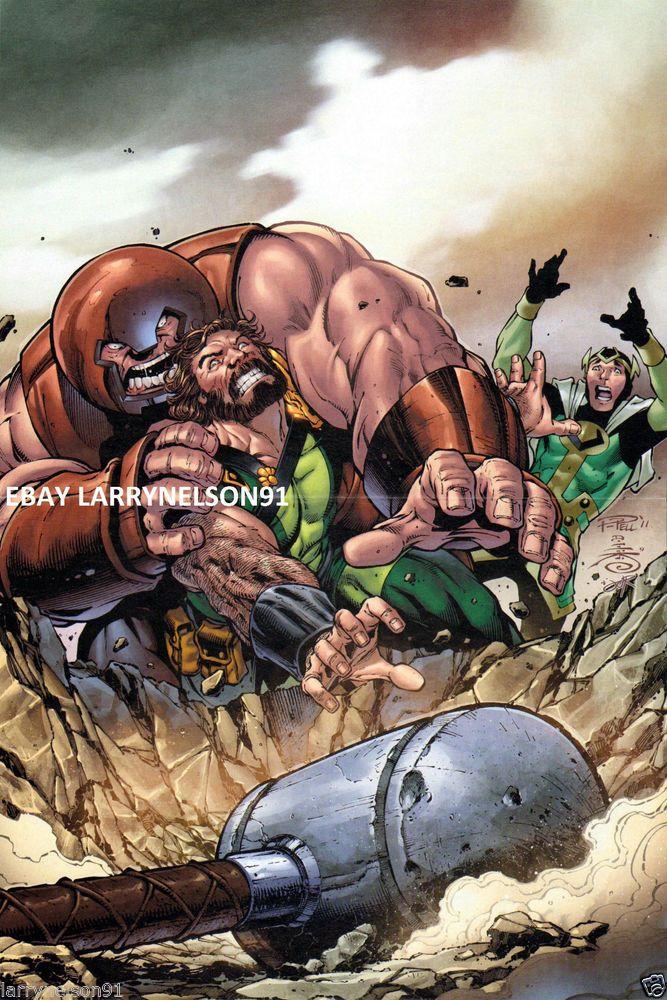 Loki juggernaut hercules marvel comic book poster paul pelletier ...