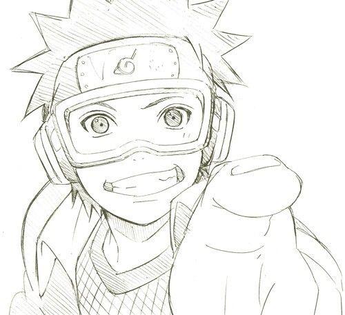 Uchiha Obito Dibujos De Naruto Faciles Naruto A Lapiz Naruto Para Dibujar