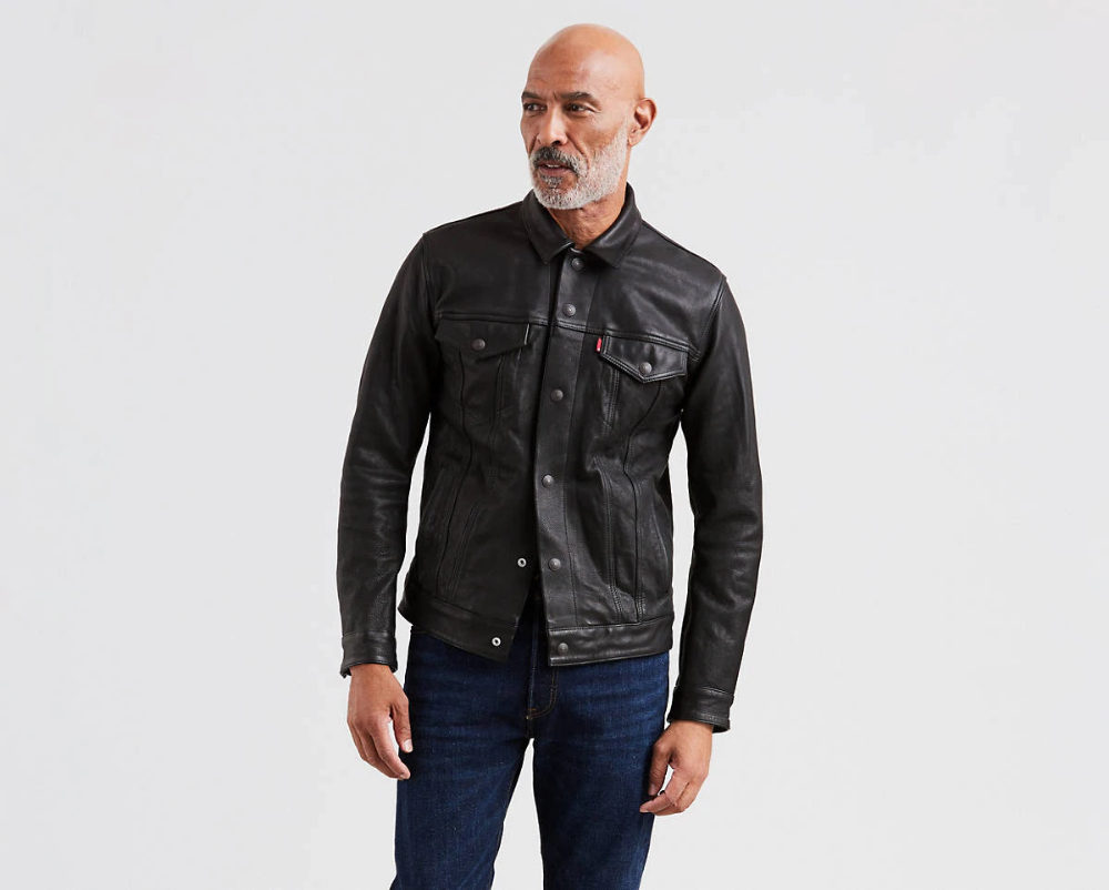 Leather Trucker Jacket Brown Levi's® US Jackets