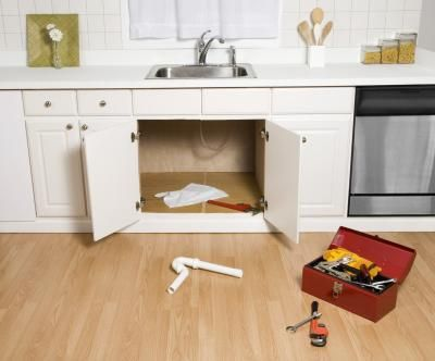 Moisture destroys the particleboard most cabinets use for the ...