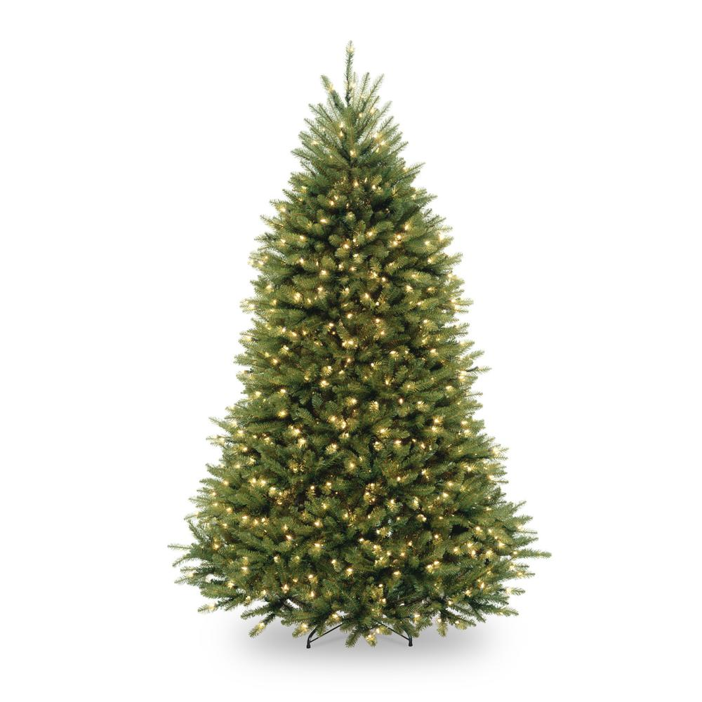 Home Accents Holiday 7 5 Ft Pre Lit Dunhill Fir Hinged Artificial Christmas Tree With Clear Lights Fir Christmas Tree Full Christmas Tree Cool Christmas Trees